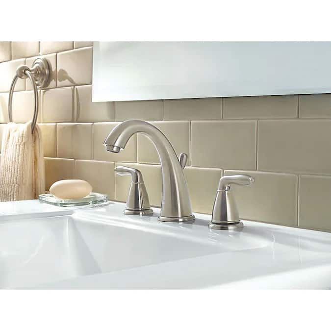 Pfister Serrano 1.2 GPM Widespread Bathroom Faucet w/ Metal Pop-Up Assembly in Brushed Nickel $74.34 + Free S/H