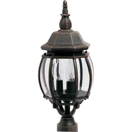 Maxim Crown Hill 3-Light Outdoor Post Light in Rust Patina $36.53 + FS over $49+