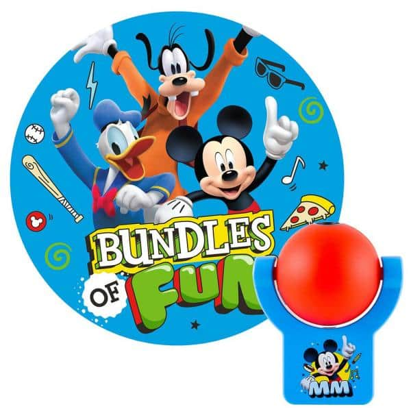 Projectables Disney Mickey Mouse Roadsters LED Night Light w/ Auto On/Off $5.61 at Home Depot + Free Shipping