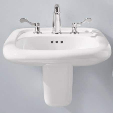 """American Standard Murro 21-1/4"""" Wall Hung Porcelain Sink (3-Hole Install w/ 8"""" Centerset) $69.14 + Free Shipping"""