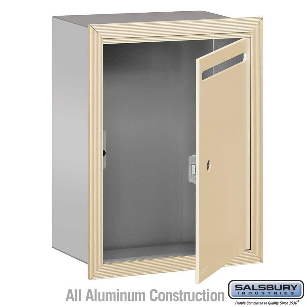 "Salsbury Industries 2240 Series Sandstone Standard Recessed-Mounted Private Letter Box w/ 11-1/2"" x 3/4"" Mail Slot $58.57 + Free Shipping"