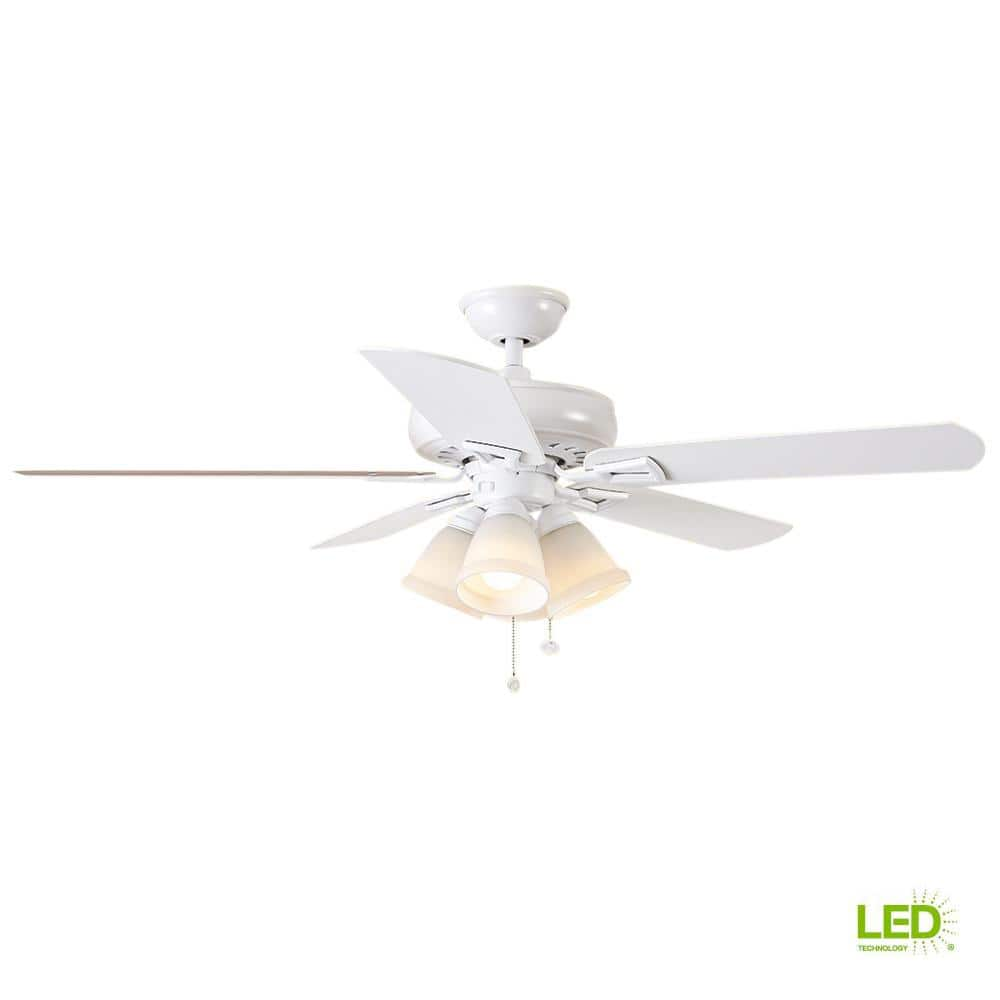 """Hampton Bay 52"""" Indoor 5-Blade Ceiling Fans w/ LED light kit from $57.97, Home Decorators Collection 52"""" Costner $82.97 & more + FS on $45+"""