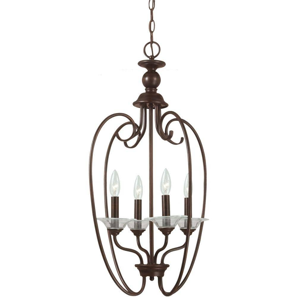 Sea Gull Lighting Lemont 4-Light Burnt Sienna Hall-Foyer Pendant $52.53 at Home Depot + FS on orders $45+ [Limited Stock]