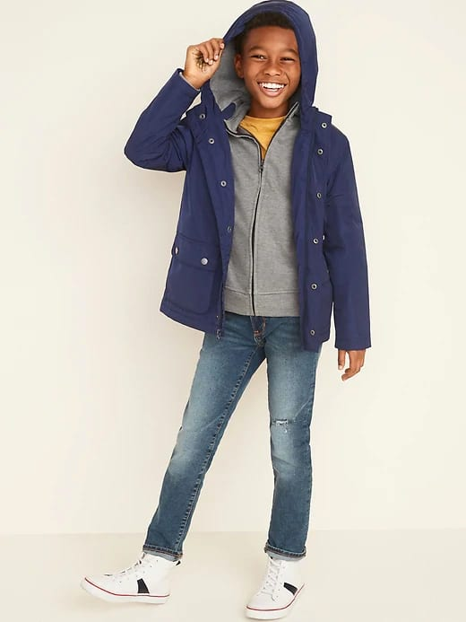 Old Navy: Boys Water-Resistant Hooded Zip Anorak $14 + FS on $17.50+ w/ other markdowns
