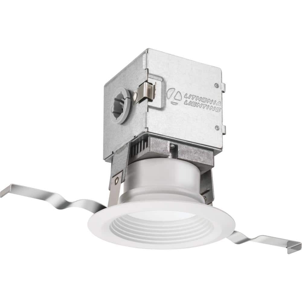 "Lithonia 3"" OneUp Integrated LED Recessed Kit, Round White (Soft White 3000K 500 Lumens) $8 + Free S/H for Prime"
