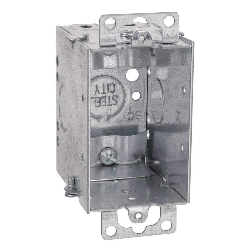 25-Pack Steel City 1-Gang 3 in. Old Work Metal Switch Box $32.47 at Home Depot + Free S/H