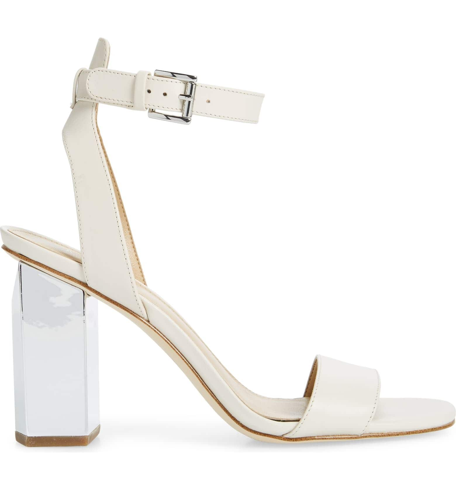 MICHAEL KORS Petra Block Heel Sandal (Light Cream or Black) $37.50 + Free Shipping
