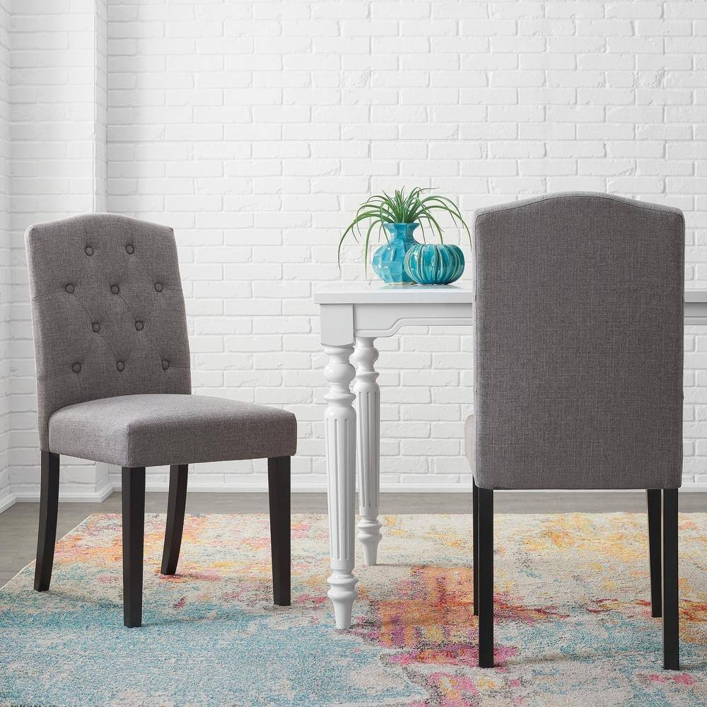 Set of 2 StyleWell Dining Chairs: Beckridge Button-Tufted (Charcoal or Light Blue) $143.40 & Much More + Free Shipping