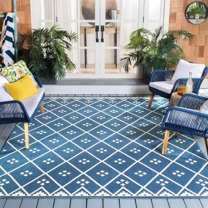 Safavieh 5' x 8' Courtyard Collection Indoor/Outdoor Area Rug $49 at Lowe's + Free Shipping