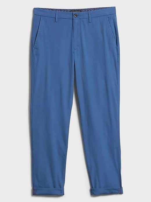 Banana Republic Factory Men's Mason Athletic-Fit Stretch Summer-Weight Chino $15.30 + Free S/H