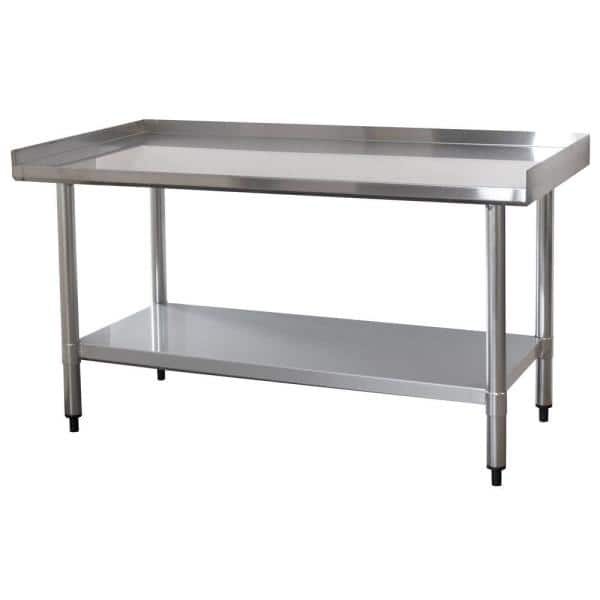 "SPORTSMAN 48.25"" L x 24"" W Stainless Steel Low Work Top  / Food Prep Table $129 + Free Shipping"