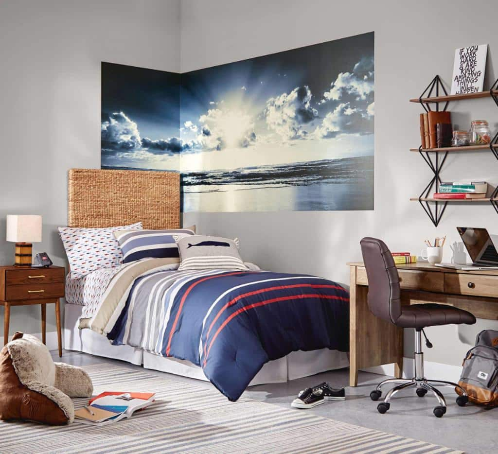 Up to 50% Off Dorm Essentials: ohpopsi Tranquility Panoramic Wall Mural $41, NAUTICA 100% Cotton Quilts or Comforter Sets from $60 and More + FS on $45+