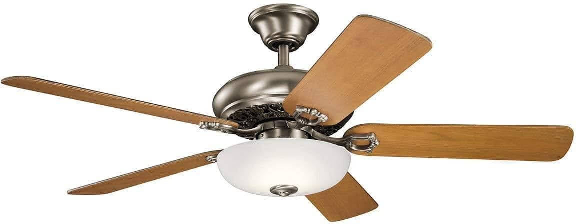 "Kichler 52"" Bentzen 5-Reversible Blades Indoor Dimmable LED Ceiling Fan w/ Wall Control (Antique Pewter) $75.48 + Free S/H"