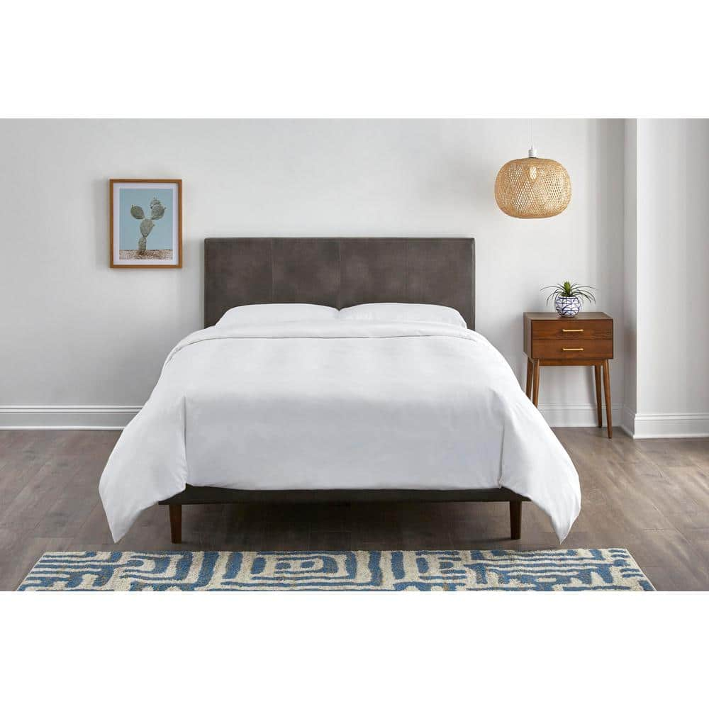 McCarrick Slate Gray Upholstered Headboard, Queen $102.92 + Free Shipping