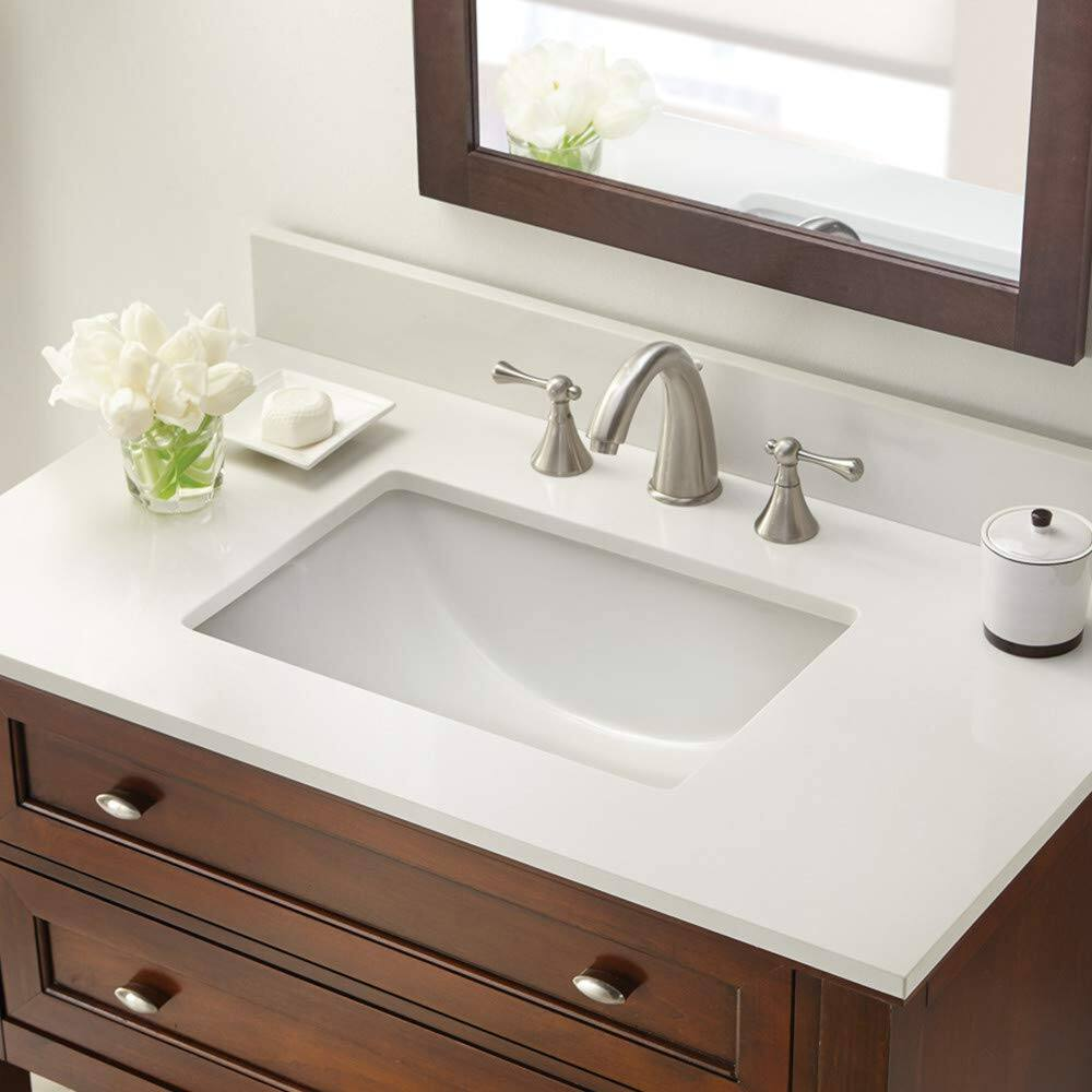 "37"" CAHABA Winter White Engineered Marble Vanity Top (8"" Spread) $223.30 + Free S/H"