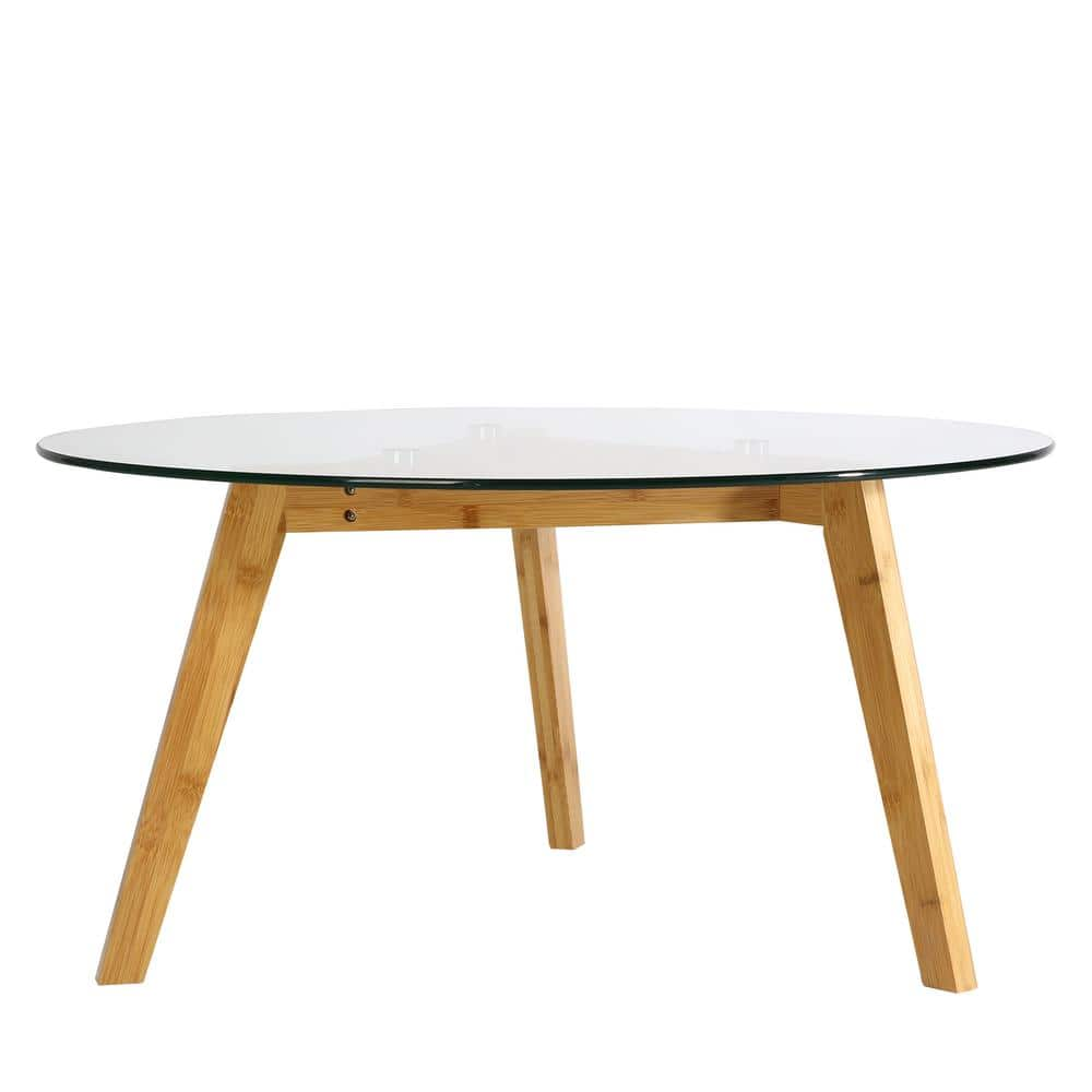 Poly & Bark Costanoa Clear/Natural Glass Coffee Table $45.90 + Free S/H