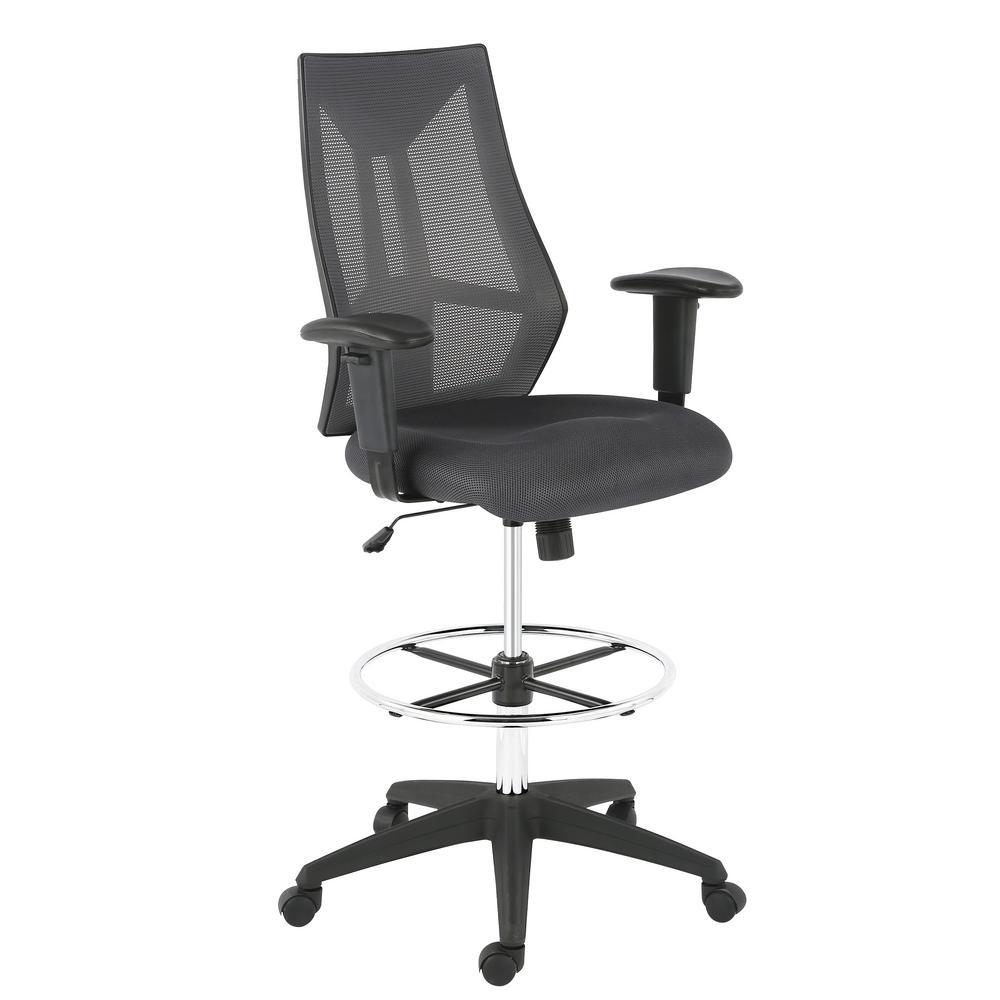 EDGEMOD Benicia Mesh Drafting Chair, Grey $76.84 + Free S/H