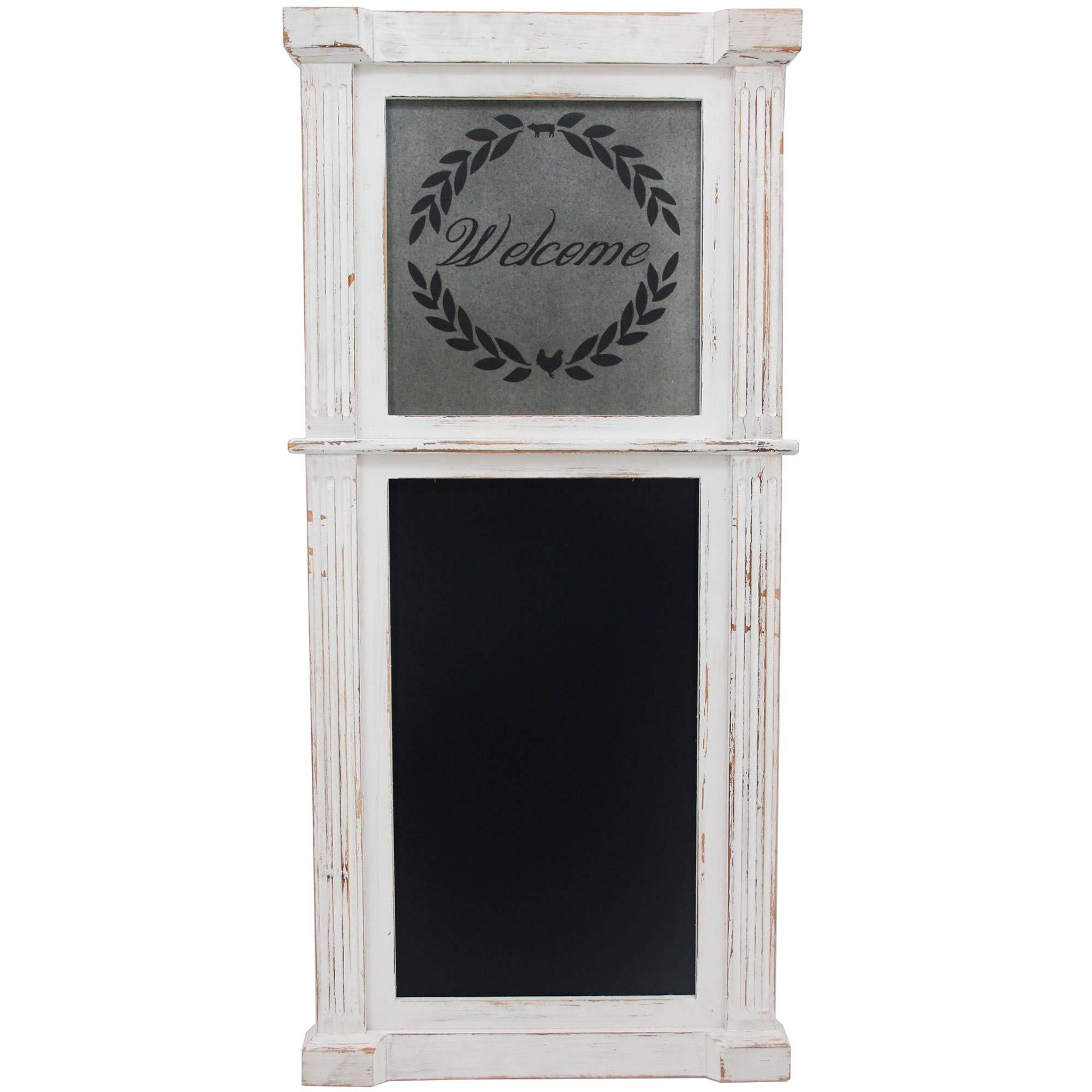 "FirsTime & Co. Whitewash Wreath Chalkboard (34.5 H x 16"" W) $26 at Amazon/Home Depot"