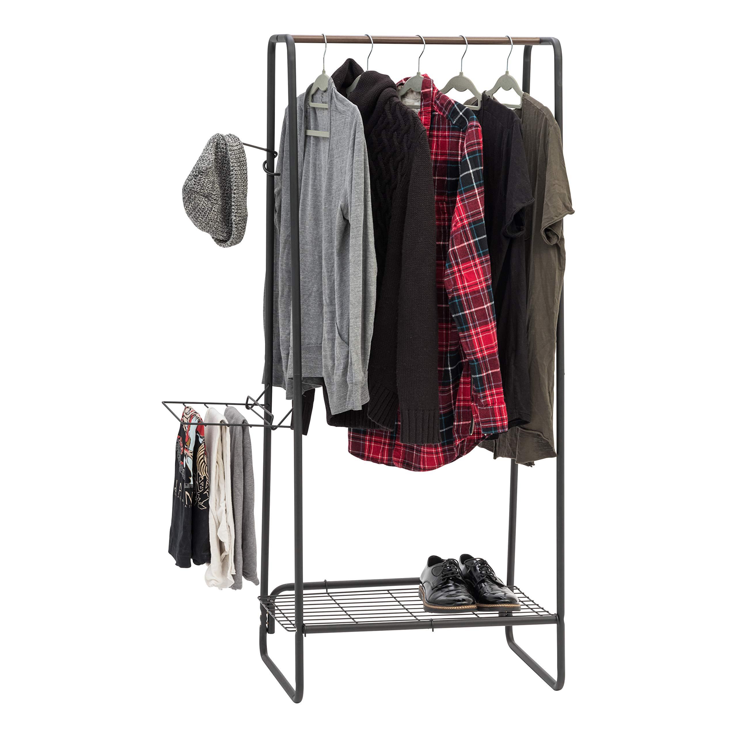 "IRIS Black Metal Garment & Accessories Rack: Medium (25.2"" W) $26.19 + Free Shipping"