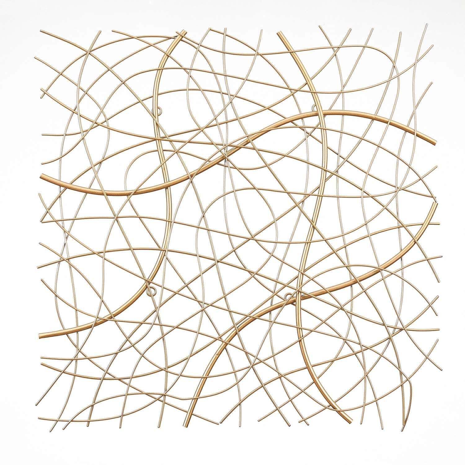 """26.4"""" Winsome Gold Abstract Square Gold Metal Wall Art $30, Parvez Taj Brushed Aluminum Wall Art: 18 H x 12"""" W """"Haldia"""" $48 & More at Home Dépot + Free Curbside Pickup"""