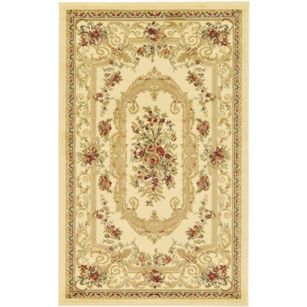 """Extra 10% Off Area Rugs Coupon: 3' 3""""  x 5' 3"""" Unique Loom Versailles Henry $18.37,  Artistic Weavers Demeter $21.60, 5' x 8' Lauren Ivory $57.80 & More at Home Depot"""