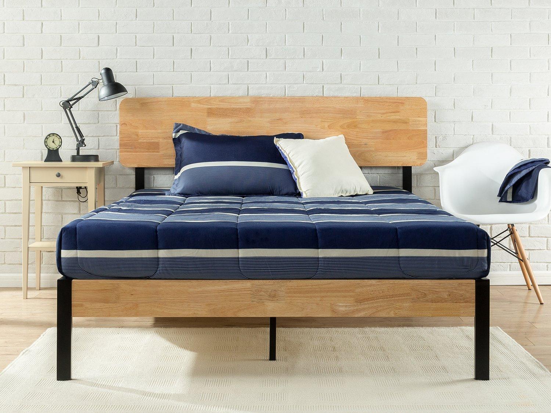 Zinus Olivia Metal & Wood Platform Bed, Queen $141 + Free Shipping