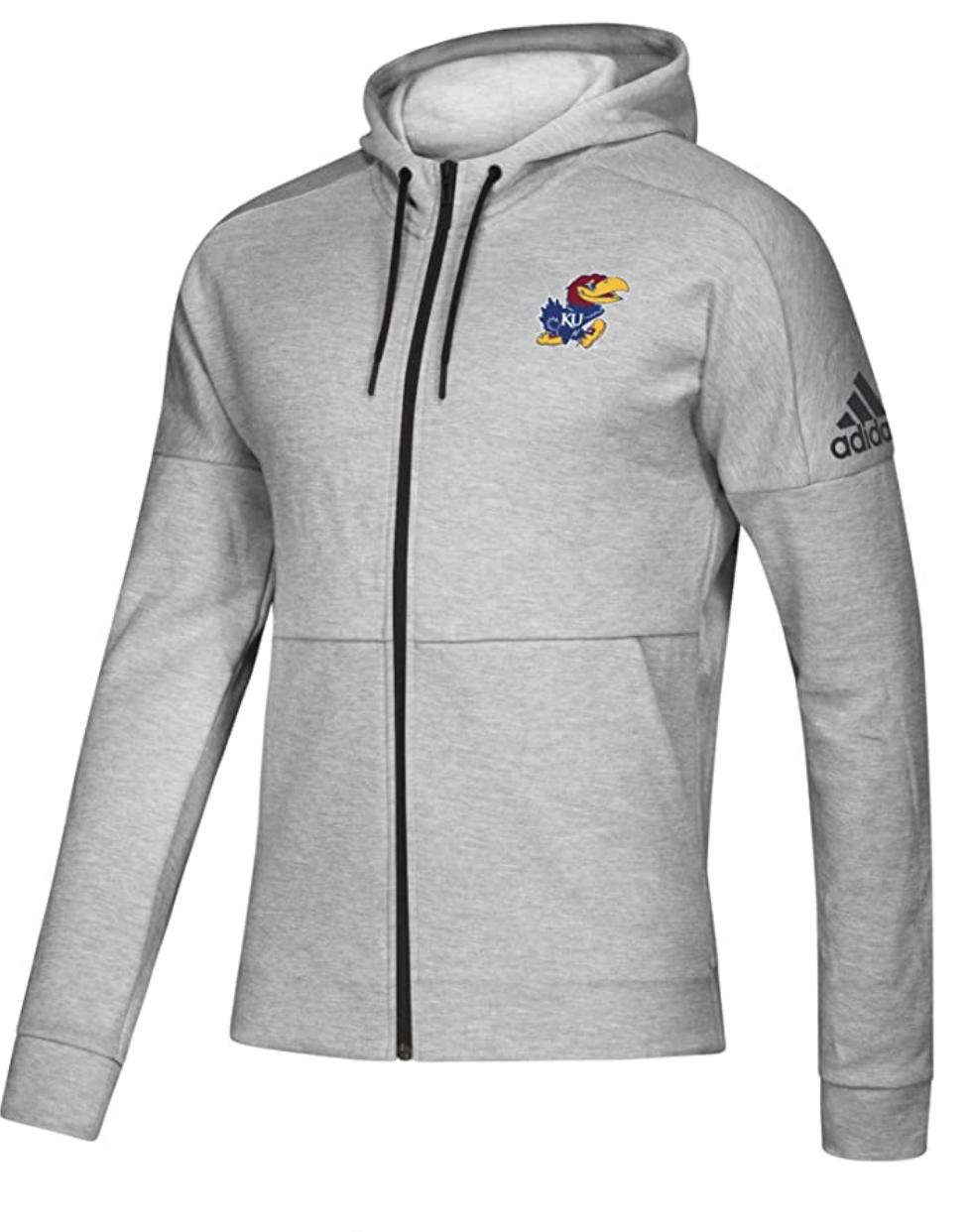Men's adidas x NCAA Fleece Zip Up Kansas Jayhawks $19.17 & More + FS w/ Prime