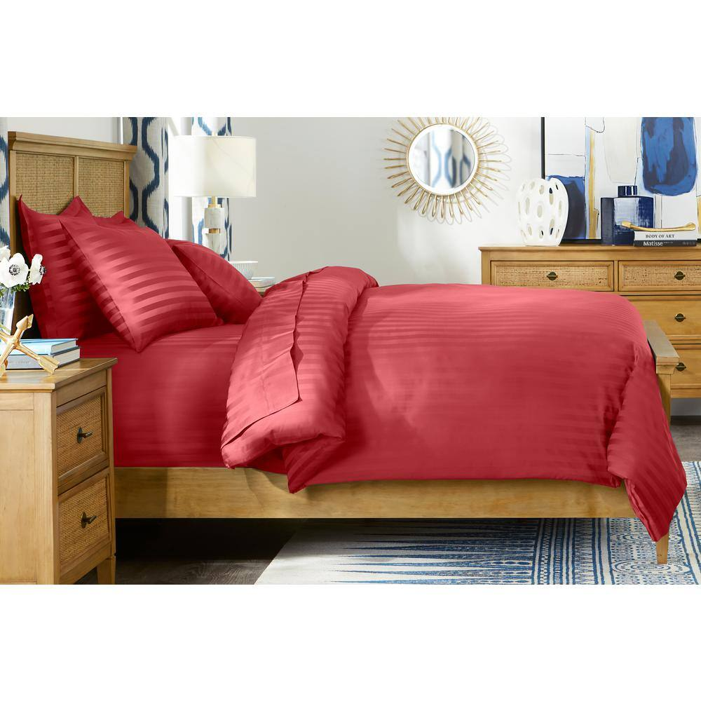 3-Pc Home Decorators Collection 500 TC Egyptian Cotton Sateen Duvet Cover Set, Full/Queen (Mason Damask) $40 + FS on $45+