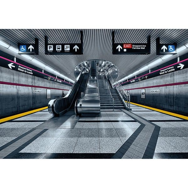 KOMAR Subway Wall Mural (8-Panel 12 Ft x 8 Ft 3 in) $34.65 + Free S/H