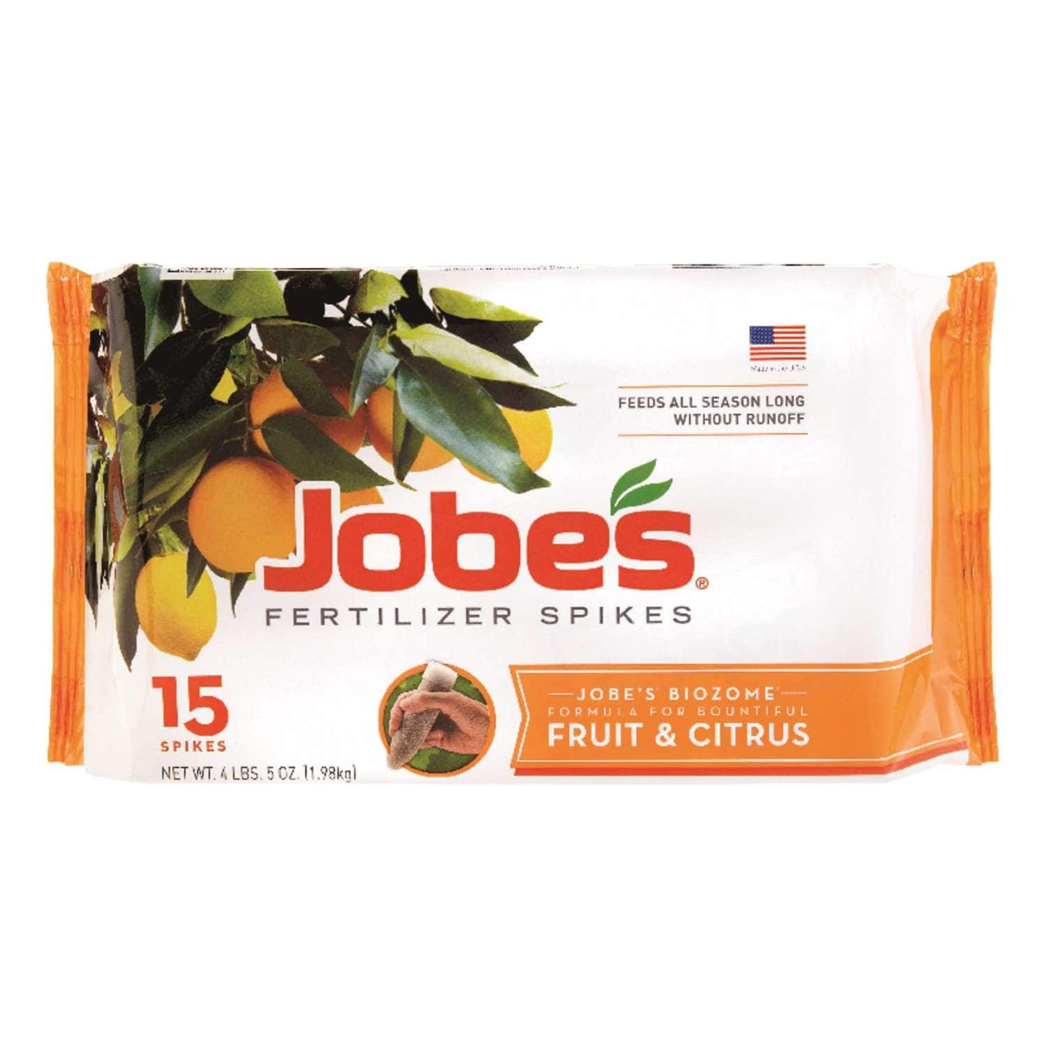 Jobe's Fertilizer Spikes: 15-Pack Citrus & Fruits or Evergreen $6, 5 Spikes for Palm $7 at Ace Hardware + Free Curbside Pickup
