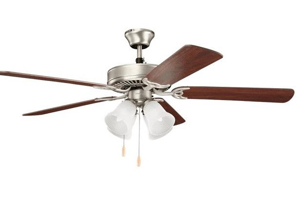 """Kichler 52"""" Basics Premier 5-Blade Indoor Ceiling Fan w/ Light Kit (Brushed Nickel) $48.60 + FS over $49"""