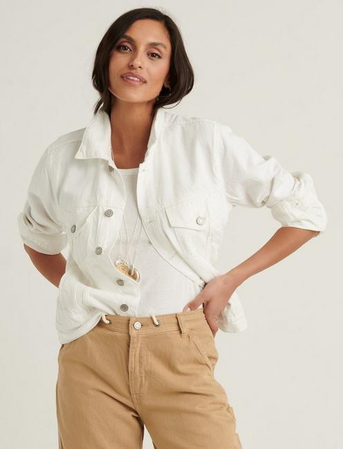 Lucky Brand | Women's Jackets: Weekend Trucker (White) $25, Relaxed Denim $30, Sherpa Denim $40 + Free S/H