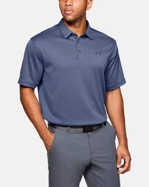 back in stock ** Men's Under Armour UA Tech Polo (Hushed Blue / Pitch Gray) $20 + Free S/H
