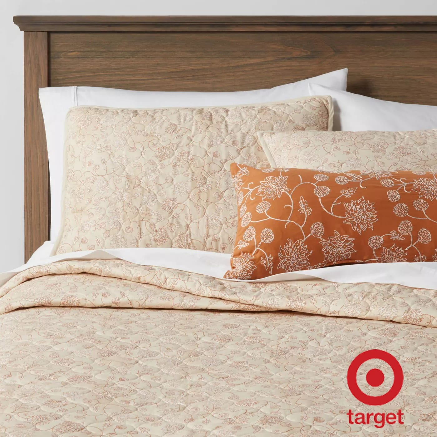4-Pc Threshold Marion Floral Quilt Set (Full/Queen) $29.50, Nate Berkus Stitched Jersey Quilt (Citron) $34.50+ 2.5% Slickdeals Cashback (PC Req'd) at Target + Free Pickup