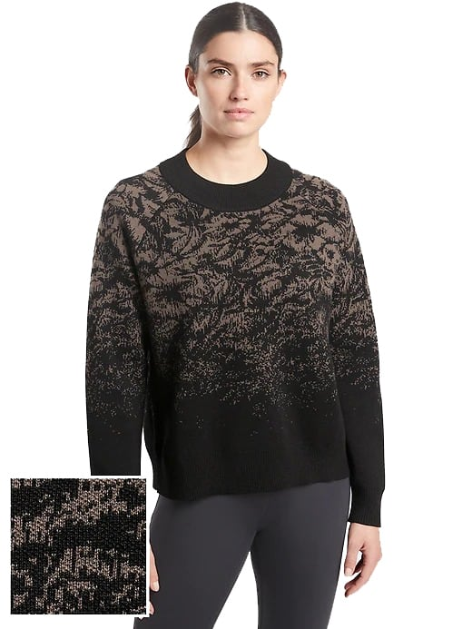 Athleta: Extra 20% to 30% Off Select Styles & Accessories (iOS App Req'd) | Women's Jacquard Floral Crew Sweater (Charcoal Grey) $32 + FS from $40+