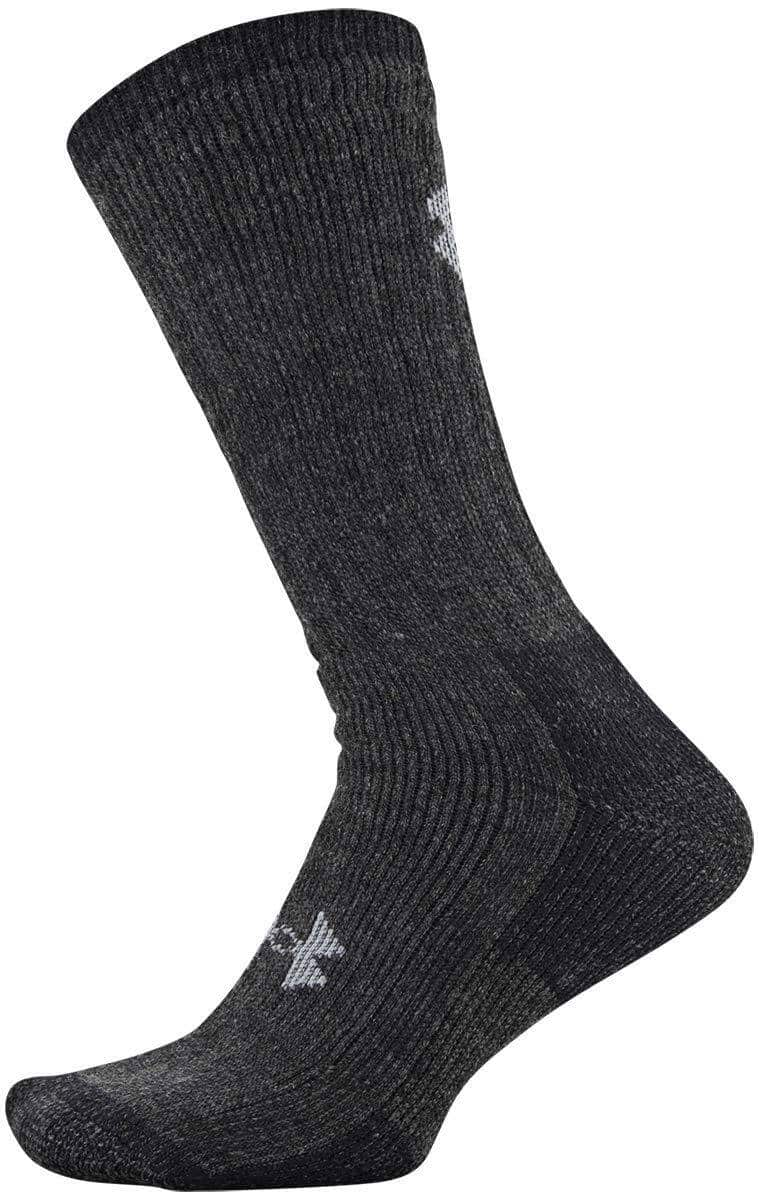 Under Armour 2-Pairs Hitch ColdGear / Charged Wool-Blend Boot Socks (Black M, Gray L) $10.68 w/ S&S, Black L $11.24 + FS w/ Prime
