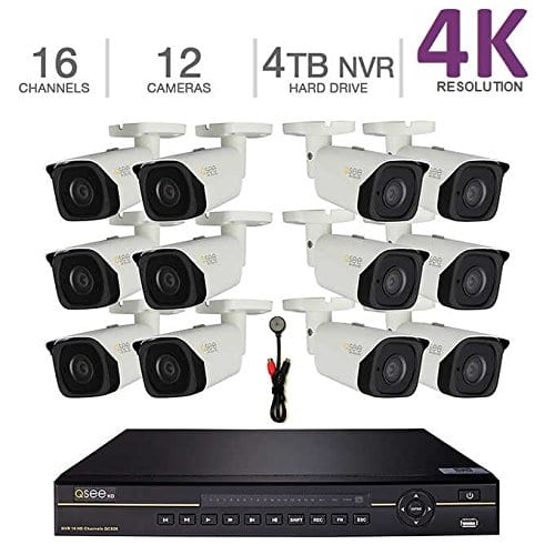 Q-See ( Dahua OEM ) 16 port 4K NVR, 4TB HDD, 12x 4K Bullet Cameras Security System $1999 Costco Online ( deal continues 11/15/17+ )  $1999.99