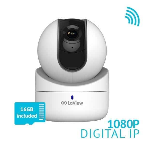 LaView 1080P IP Indoor WiFi or Ethernet Pan-Tilt Camera LV-PWR302 $56.25 w/code