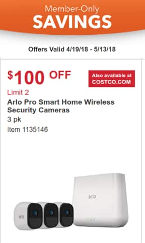 Arlo Pro Wireless Security Camera kit 3 pack at Costco 4/19-5/13
