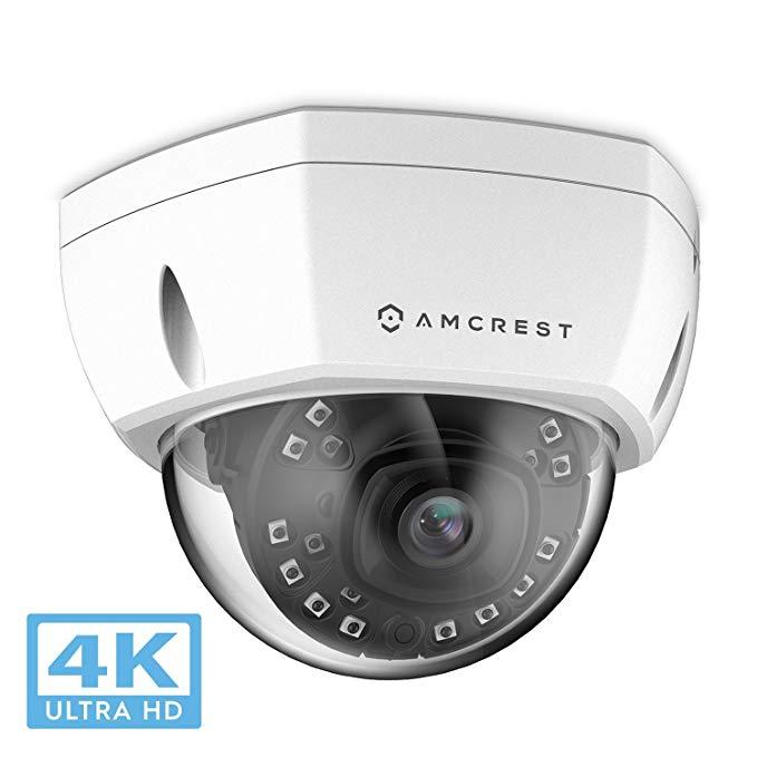 Amazon Prime Members: Amcrest UHD 4K / 8MP Outdoor IP PoE Dome camera black: $119.99 white: $99.99