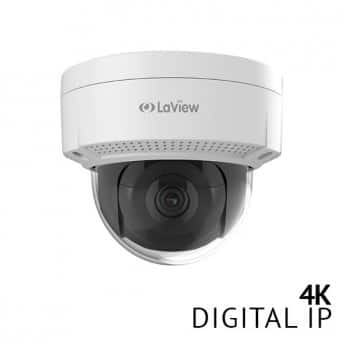 LaView / hikvision OEM 4K / 8MP IP PoE bullet or dome camera $81.75 or $84.75