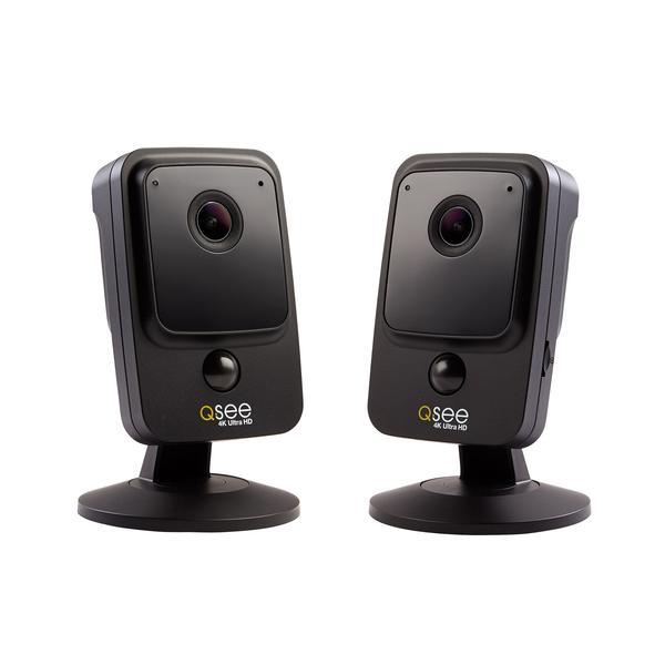 Q-see 4K ULTRA HD SMART HOME WI-FI BLACK CUBE CAMERA - 2 PACK (QCW4K1MCB-2) $99.99