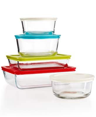 Pyrex 10 piece Storage Set, with Colored Lids  $13.99 - Free store pick up or Free Ship orders over $25