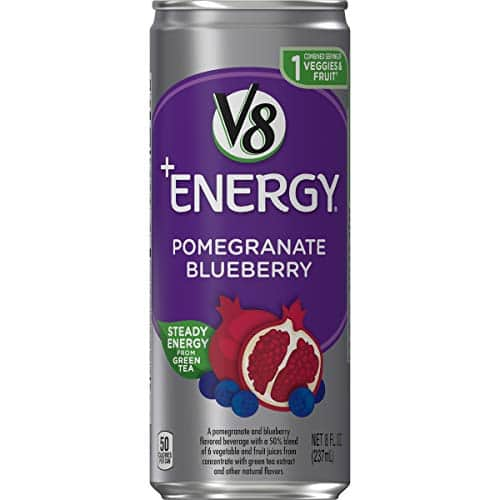 24 count, V8 +Energy, Healthy Energy Drink, Natural Energy from Tea, Pomegranate Blueberry, 8 Ounce Can $12.14