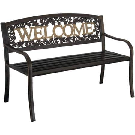 Black & Gold Leigh Country Welcome Bench $65 + Free Store Pick-Up