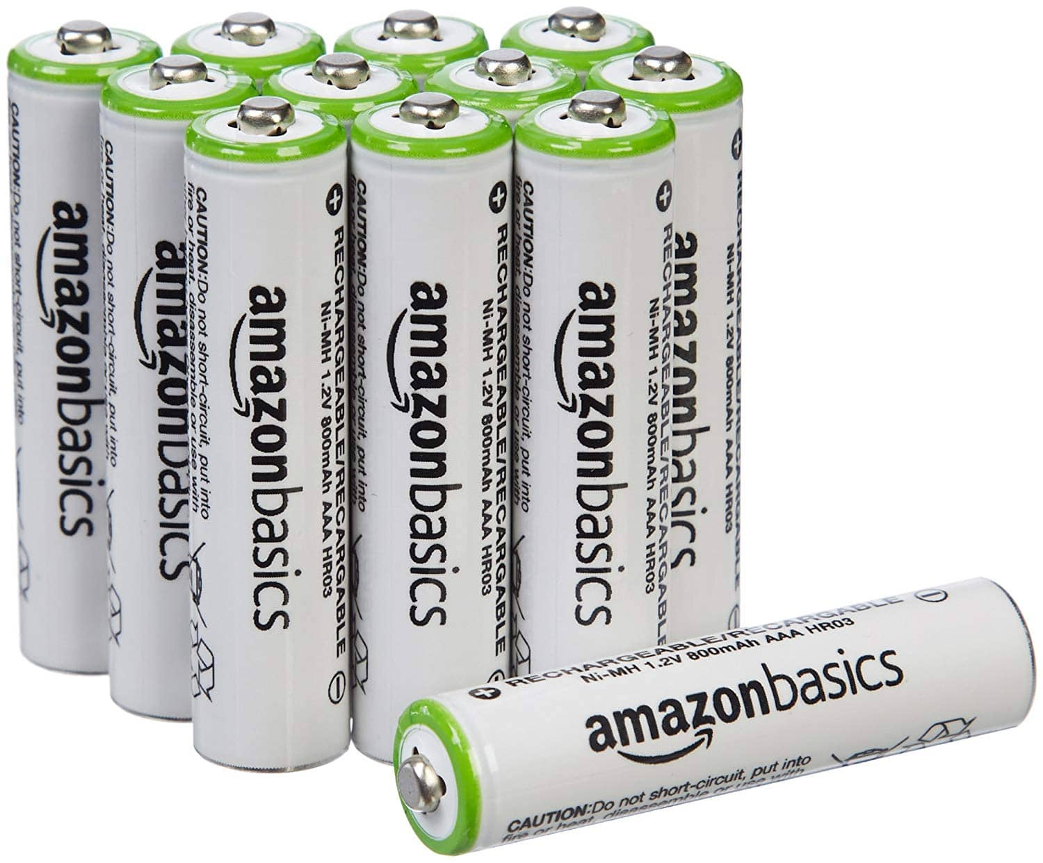 AmazonBasics AAA Rechargeable Batteries (12-Pack) - Packaging May Vary $11.99