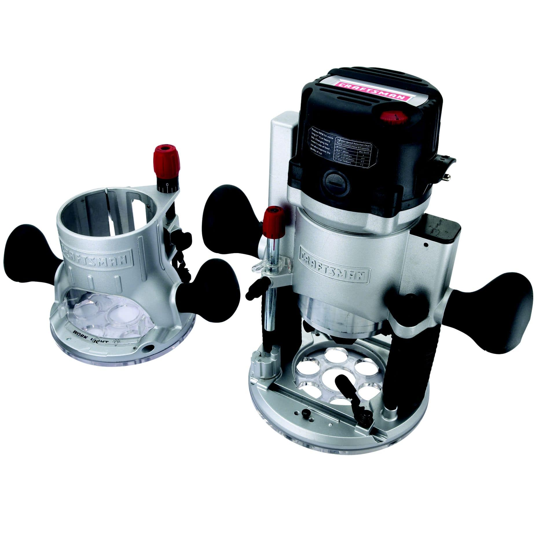 Craftsman 12-amp, 2-hp Fixed/Plunge Base Router $97.49 + $34.88 SYW (net $62.61) Reg $125 points roll