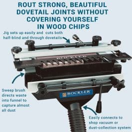 Rockler's Complete Dovetail Jig with Dovetail Jig Dust Collector Combo $169.98