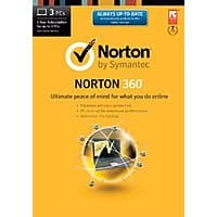 Amazon Deal: Norton 360 1 user 3 licenses download/retail box $30.99 with $15 Amazon gift card.