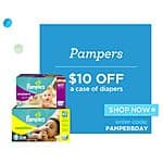 Save $11.50 on a Case of Pampers Diapers at Diapers.com with Free Shipping